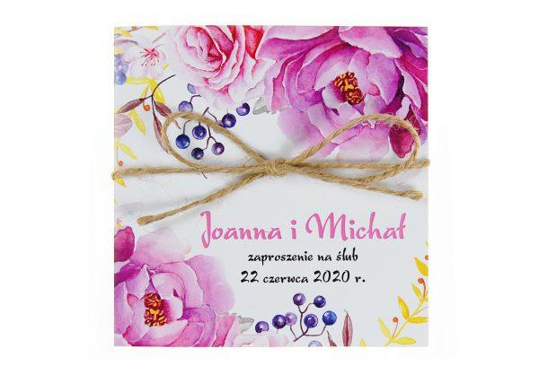 zaproszenia-ślubne-boho-kwiatowe-rustykalne-ze-sznurkiem-Tamara-KW13