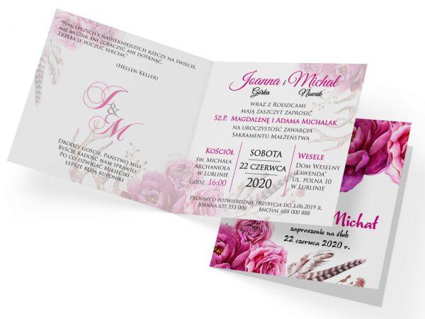 zaproszenia-ślubne-boho-kwiatowe-rustykalne-ze-sznurkiem-Tamara-wnętrze