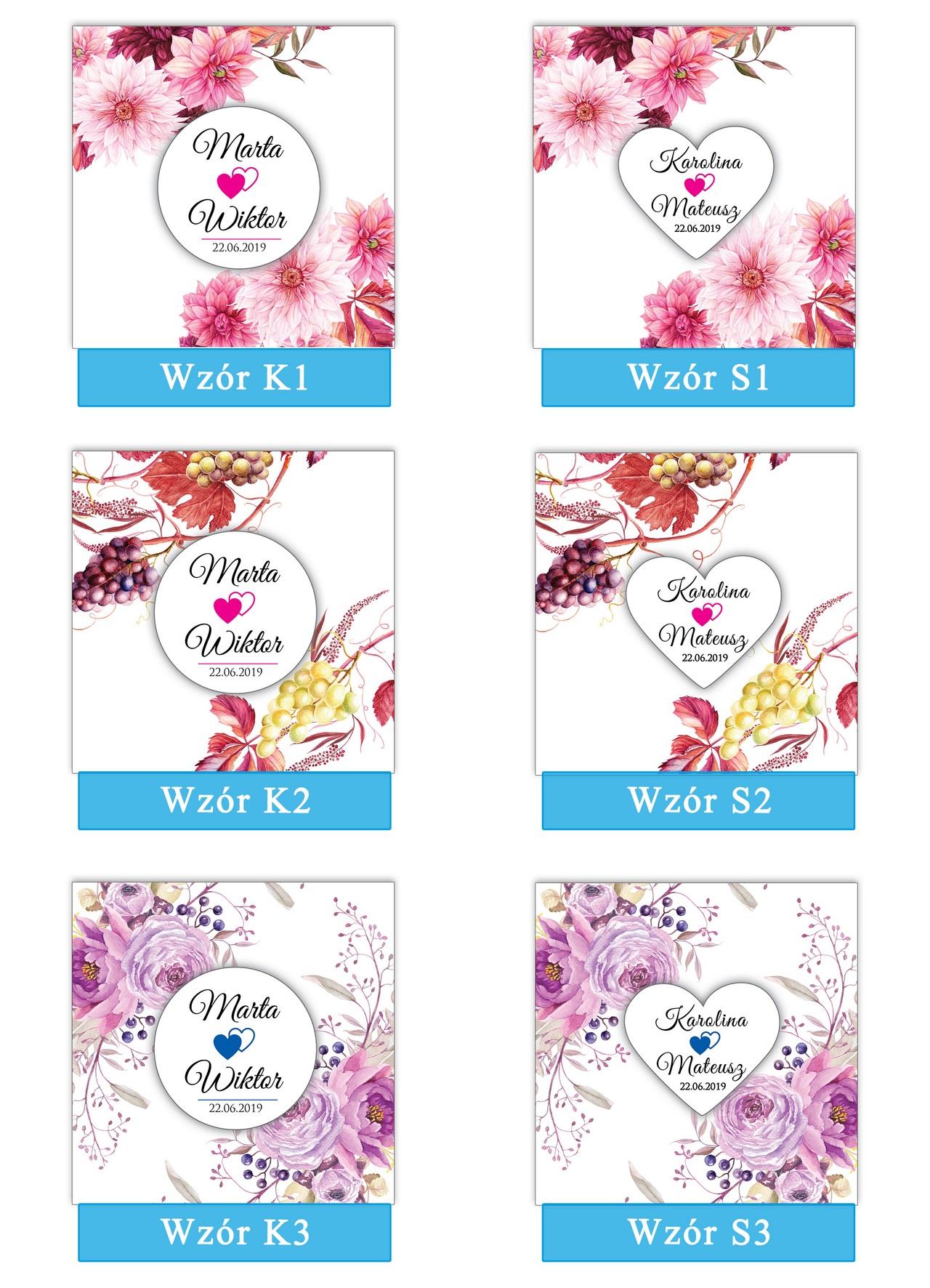 zaproszenia-ślubne-boho-rustykalne-kwiatowe-Nikola-ze-wstążką-kwiaty boho-plansza-wzory1-3