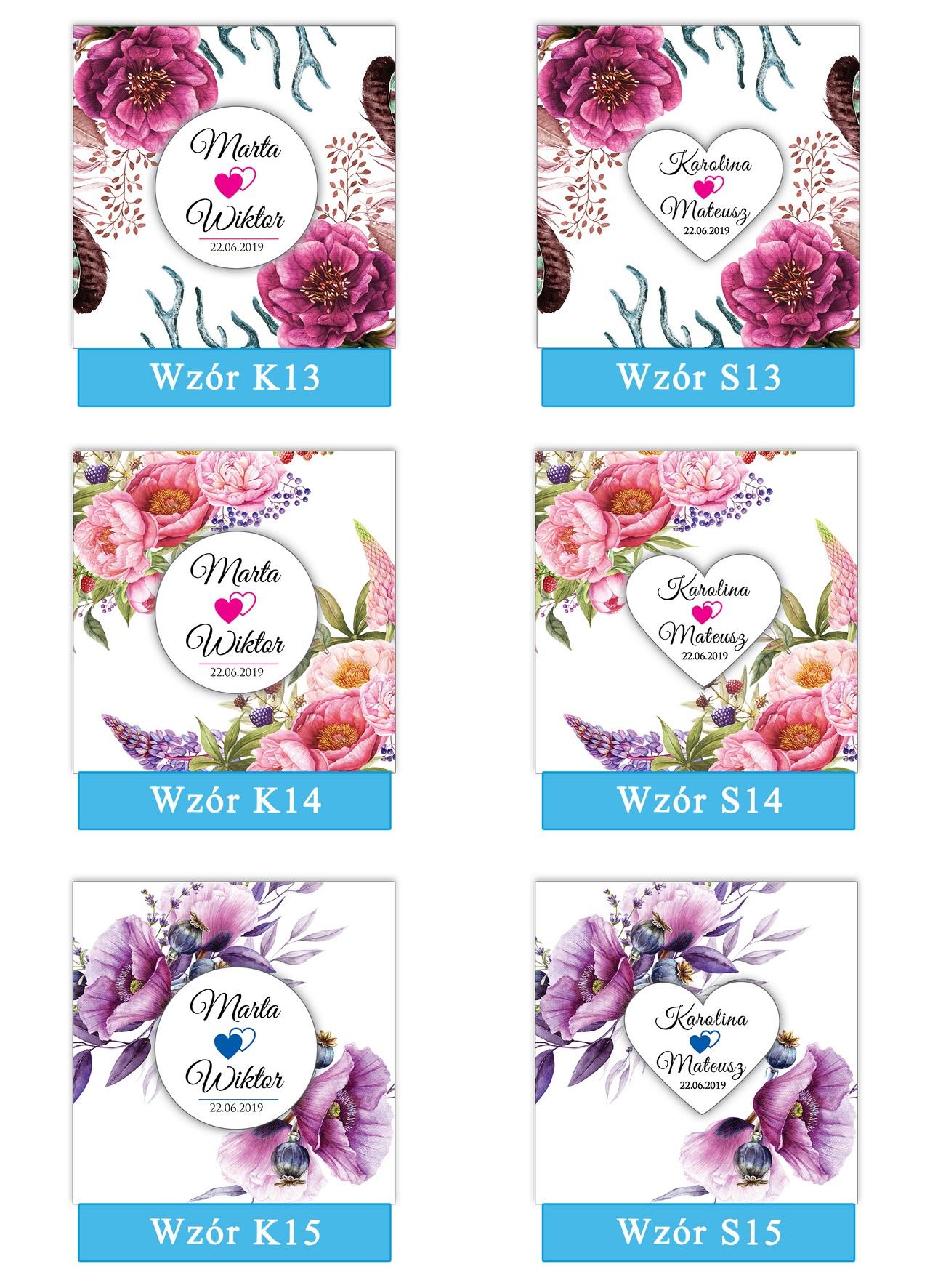 zaproszenia-ślubne-boho-rustykalne-kwiatowe-Nikola-ze-wstążką-kwiaty boho-plansza-wzory13-15