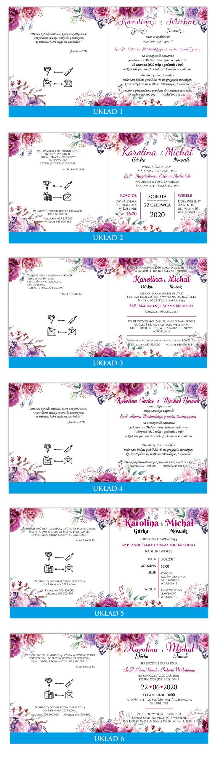 zaproszenia-ślubne-boho-rustykalne-kwiatowe-Nikola-ze-wstążką-układy-tekstu