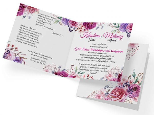 zaproszenia-ślubne-boho-rustykalne-kwiatowe-Nikola-ze-wstążką-wnętrze