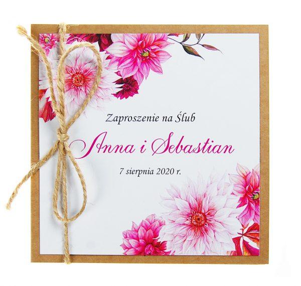 zaproszenia-ślubne-boho-rustykalne-kwiatowe-Nikola3-ze-sznurkiem-eko-klejone-front-na-białym-papierze- f1