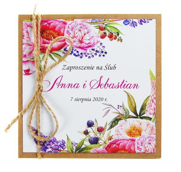 zaproszenia-ślubne-boho-rustykalne-kwiatowe-Nikola3-ze-sznurkiem-eko-klejone-front-na-białym-papierze- f14