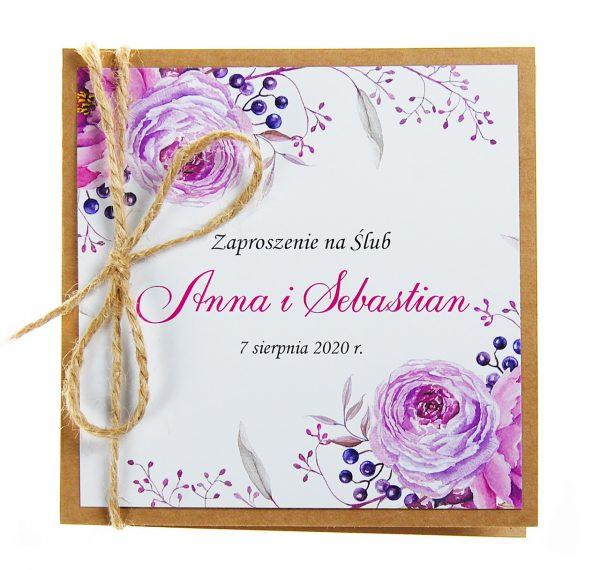 zaproszenia-ślubne-boho-rustykalne-kwiatowe-Nikola3-ze-sznurkiem-eko-klejone-front-na-białym-papierze-f3