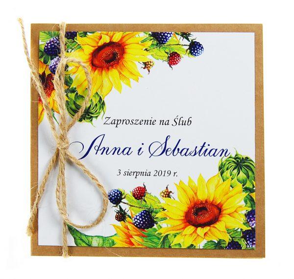 zaproszenia-ślubne-boho-rustykalne-kwiatowe-Nikola3-ze-sznurkiem-eko-klejone-front-na-białym-papierze- f4