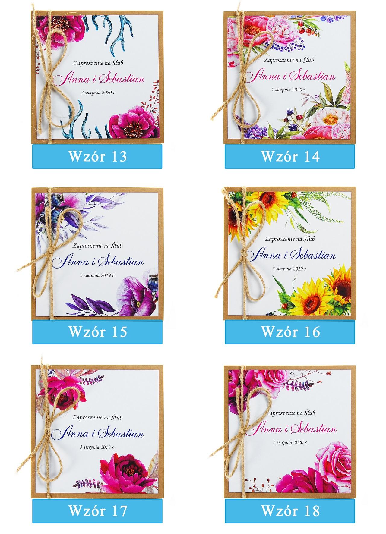 zaproszenia-ślubne-boho-rustykalne-kwiatowe-Nikola3-ze-sznurkiem-eko-klejone-front-na-białym-papierze-plansza-wzory13-18