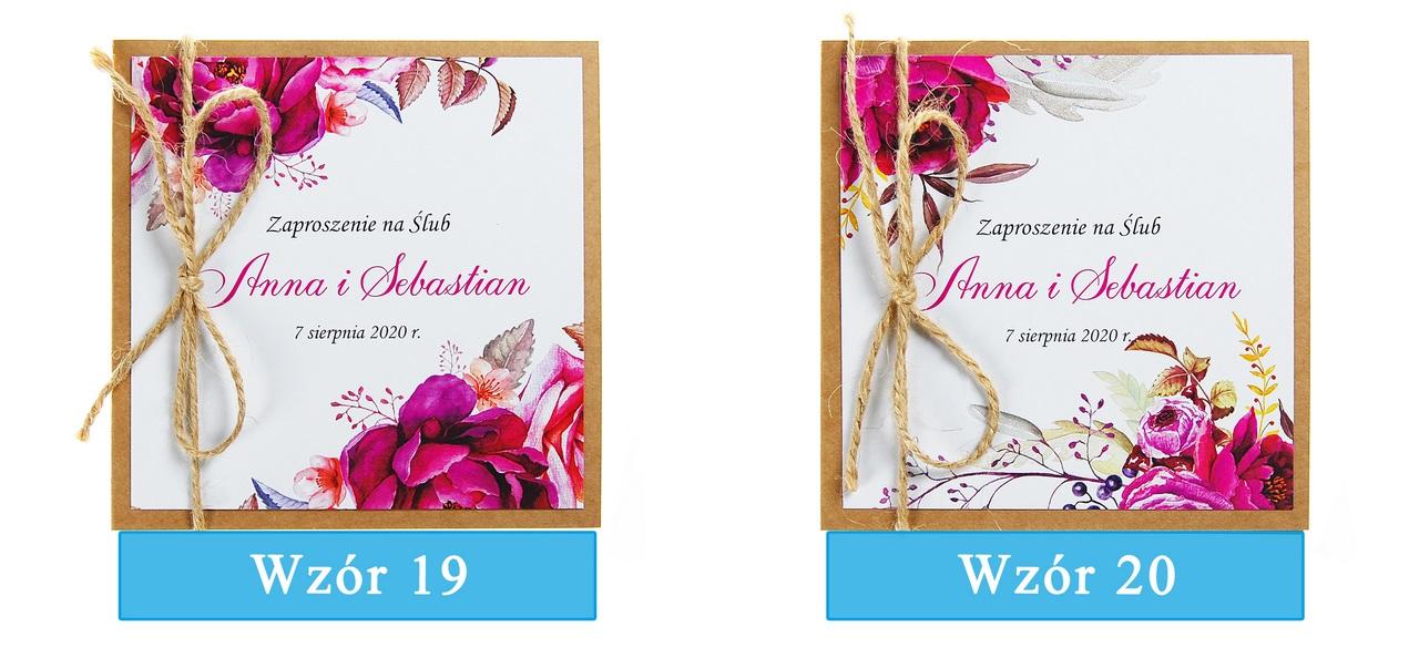 zaproszenia-ślubne-boho-rustykalne-kwiatowe-Nikola3-ze-sznurkiem-eko-klejone-front-na-białym-papierze-plansza-wzory19-20