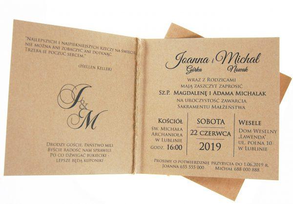 zaproszenia-ślubne-boho-rustykalne-kwiatowe-Nikola3-ze-sznurkiem-eko-klejone-front-na-białym-papierze-wnetrze