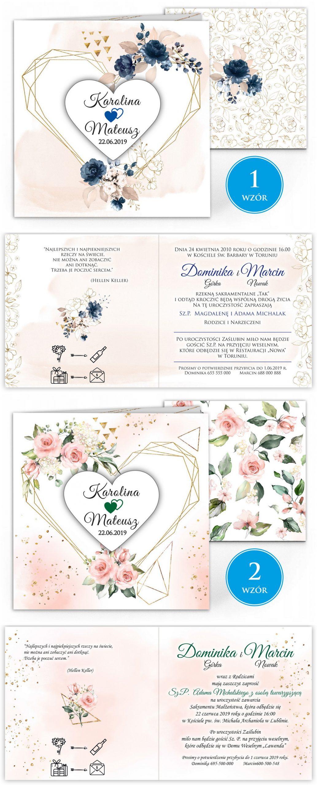 zaproszenia-ślubne-boho-rustykalne-kwiatowe--ramki-serca-geometryczne-ze-wstążką-Wenus2-plansza-wzory1-2
