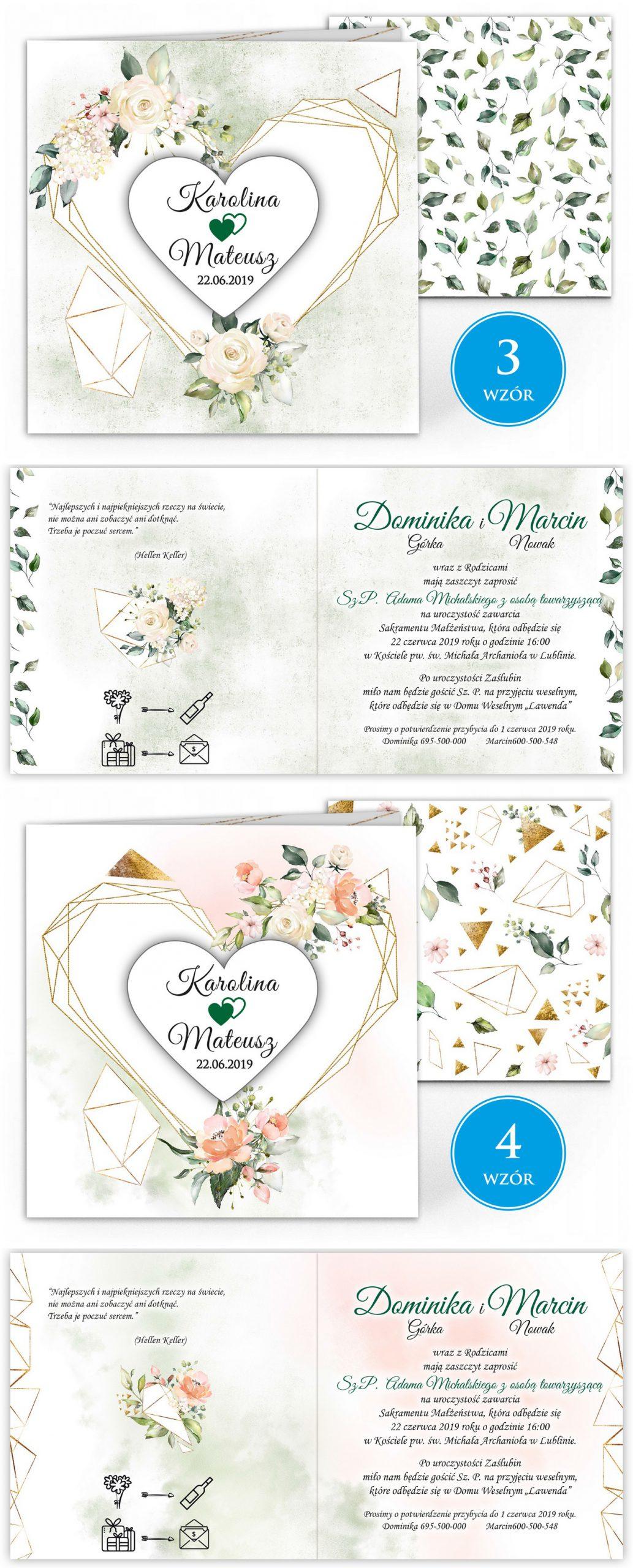 zaproszenia-ślubne-boho-rustykalne-kwiatowe--ramki-serca-geometryczne-ze-wstążką-Wenus2-plansza-wzory3-4