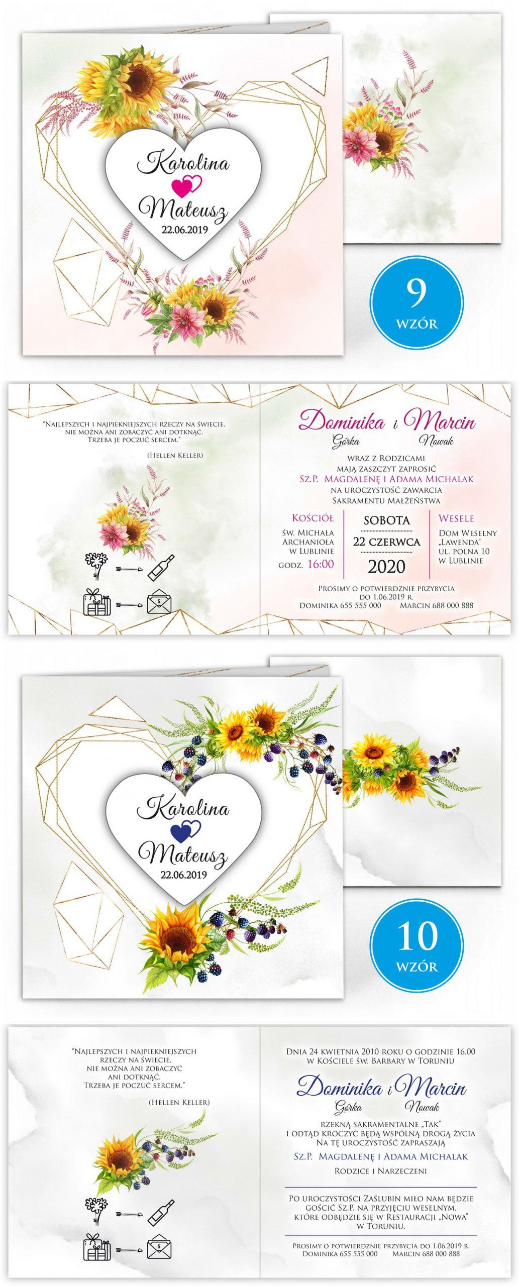 zaproszenia-ślubne-boho-rustykalne-kwiatowe--ramki-serca-geometryczne-ze-wstążką-Wenus2-plansza-wzory9-10