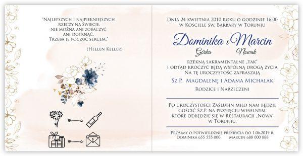 zaproszenia-ślubne-boho-rustykalne-kwiatowe--ramki-serca-geometryczne-ze-wstążką-Wenus2-wnętrze1