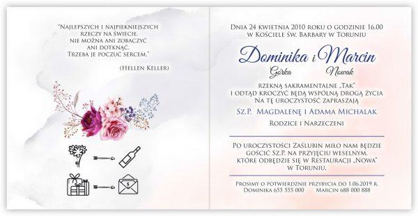 zaproszenia-ślubne-boho-rustykalne-kwiatowe--ramki-serca-geometryczne-ze-wstążką-Wenus2-wnętrze11