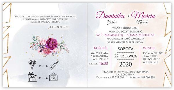 zaproszenia-ślubne-boho-rustykalne-kwiatowe--ramki-serca-geometryczne-ze-wstążką-Wenus2-wnętrze12