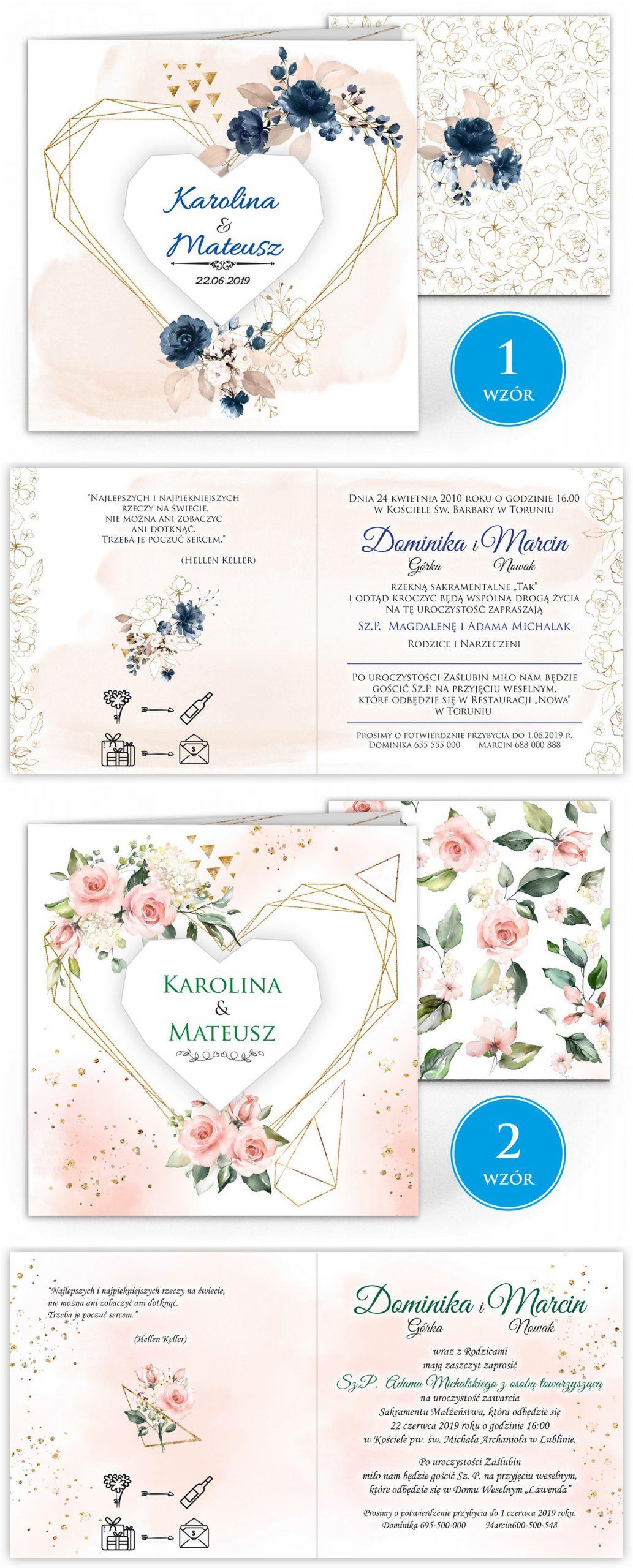 zaproszenia-ślubne-boho-rustykalne-kwiatowe--ramki-serca-geometryczne-ze-wstążką-Wenus3-plansza-wzory1-2