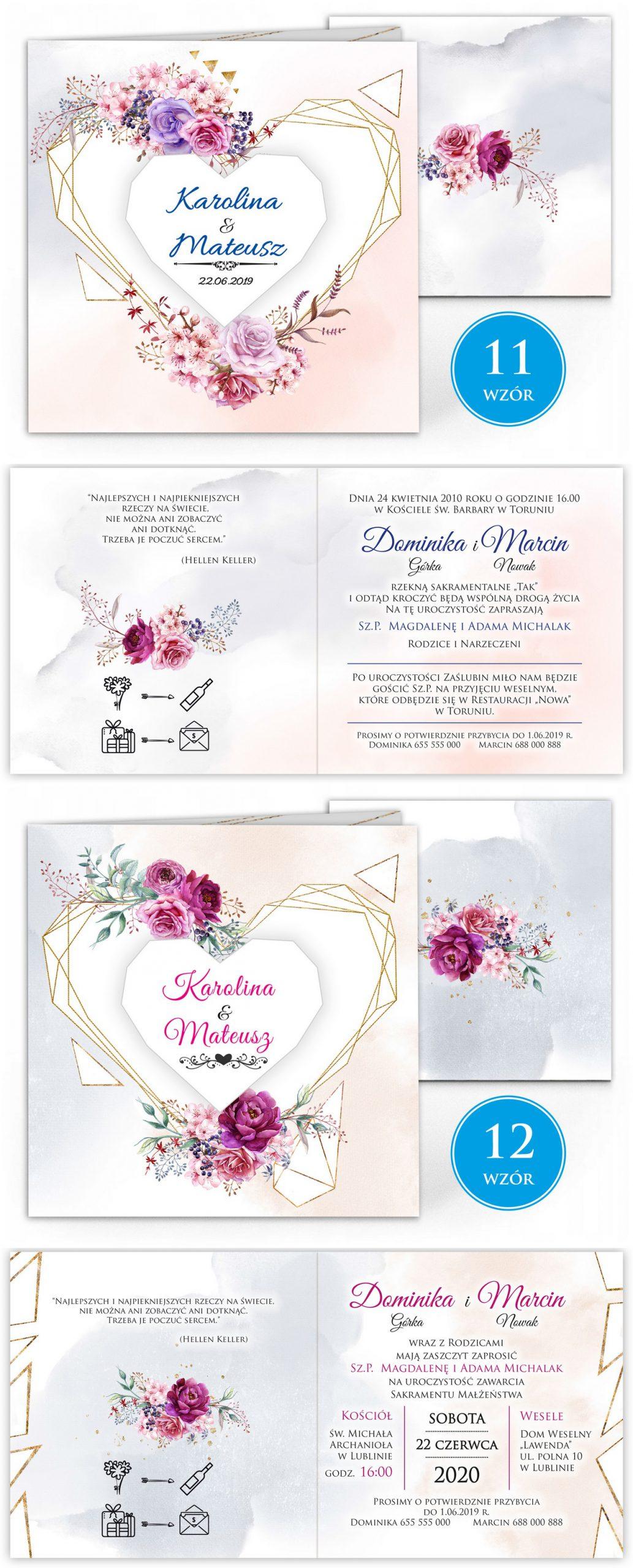 zaproszenia-ślubne-boho-rustykalne-kwiatowe--ramki-serca-geometryczne-ze-wstążką-Wenus3-plansza-wzory11-12