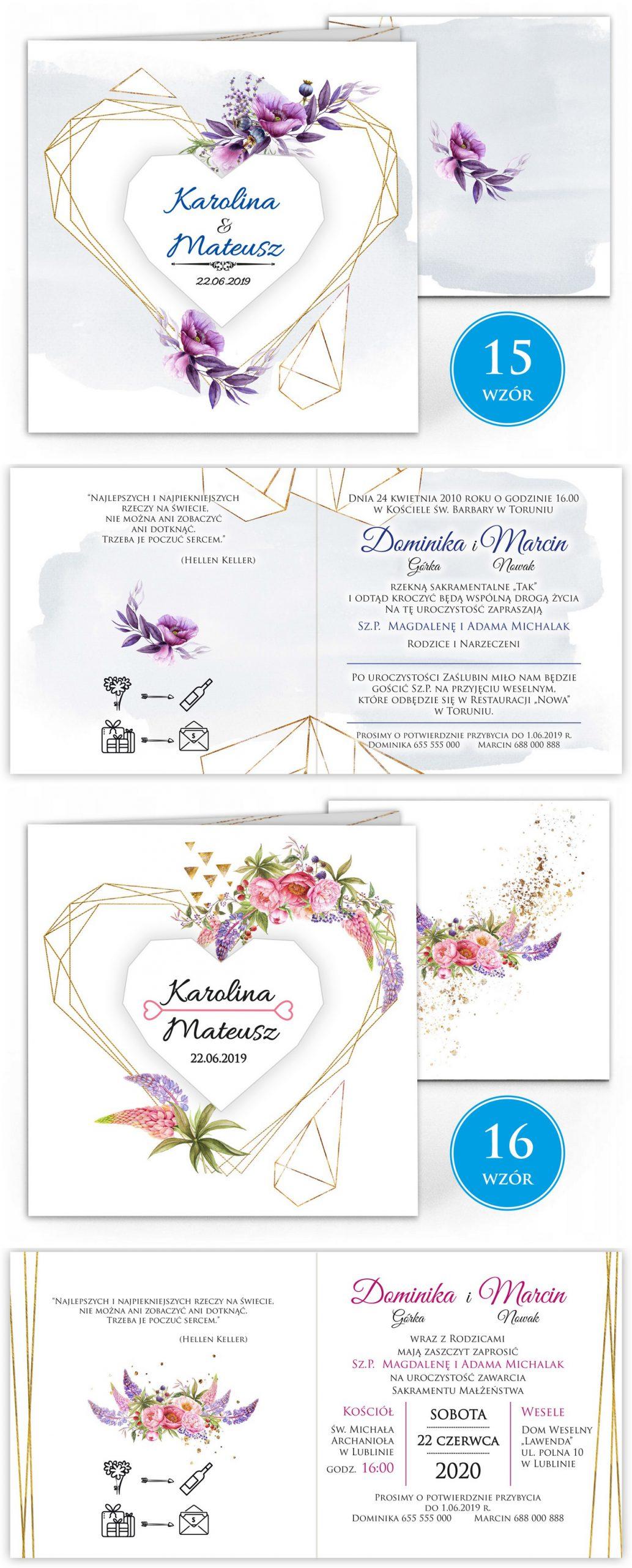 zaproszenia-ślubne-boho-rustykalne-kwiatowe--ramki-serca-geometryczne-ze-wstążką-Wenus3-plansza-wzory15-16