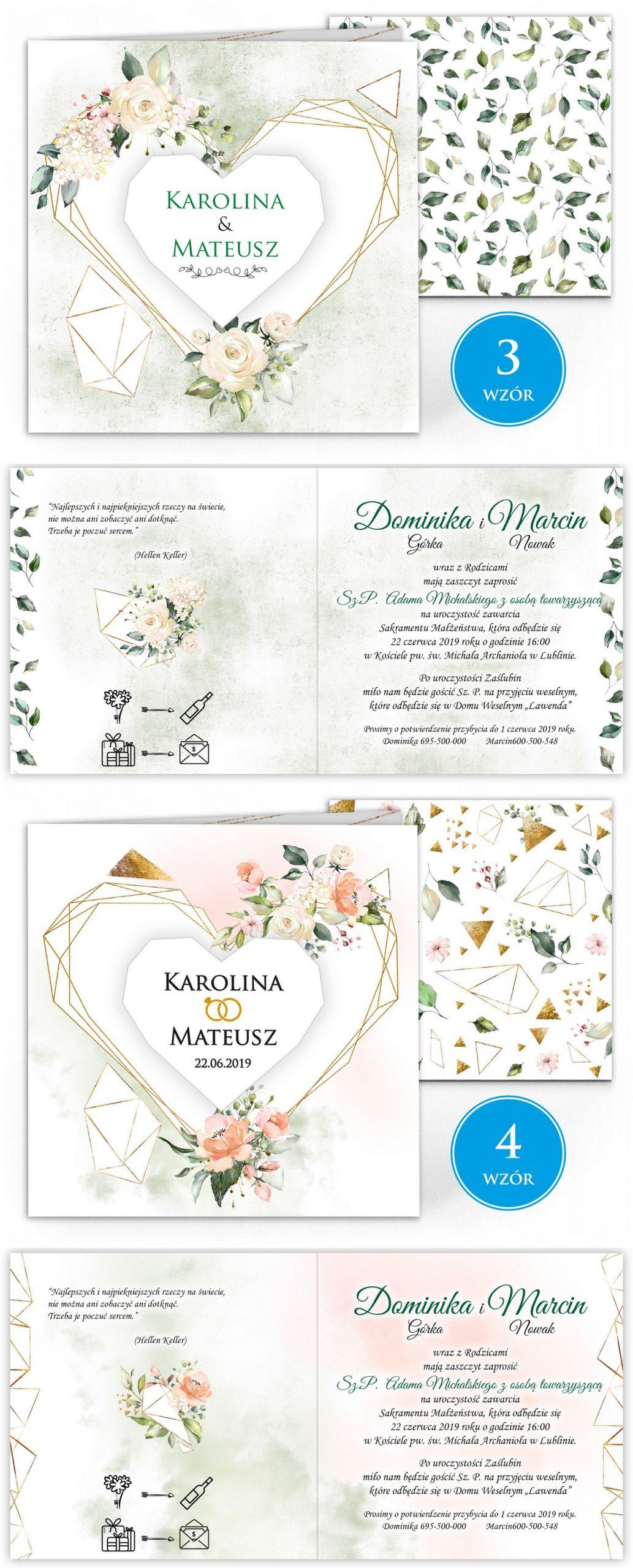 zaproszenia-ślubne-boho-rustykalne-kwiatowe--ramki-serca-geometryczne-ze-wstążką-Wenus3-plansza-wzory3-4