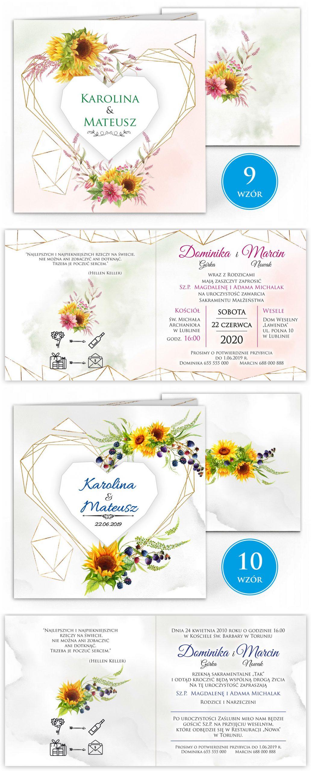 zaproszenia-ślubne-boho-rustykalne-kwiatowe--ramki-serca-geometryczne-ze-wstążką-Wenus3-plansza-wzory9-10