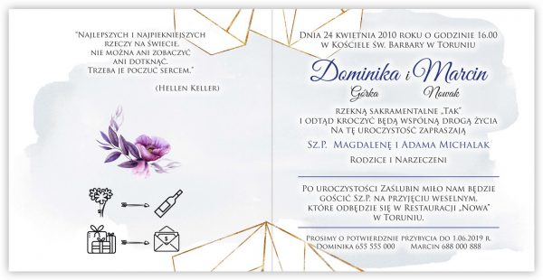 zaproszenia-ślubne-boho-rustykalne-kwiatowe--ramki-serca-geometryczne-ze-wstążką-Wenus3-wnętrze15