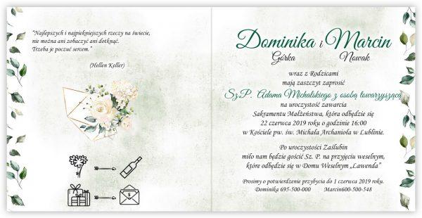 zaproszenia-ślubne-boho-rustykalne-kwiatowe--ramki-serca-geometryczne-ze-wstążką-Wenus3-wnętrze3