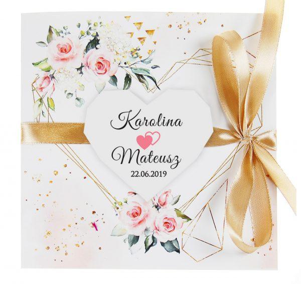 zaproszenia-ślubne-boho-rustykalne-kwiatowe--ramki-serca-geometryczne-ze-wstążką-Wenus3-zdjęcie2