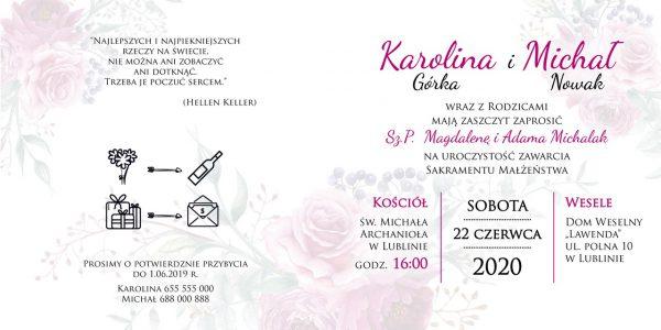 zaproszenia-ślubne-boho-rustykalne-wianki-kwiatowe-Silena-ze-wstążką-Układ 2