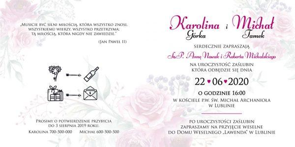 zaproszenia-ślubne-boho-rustykalne-wianki-kwiatowe-Silena-ze-wstążką-Układ 6