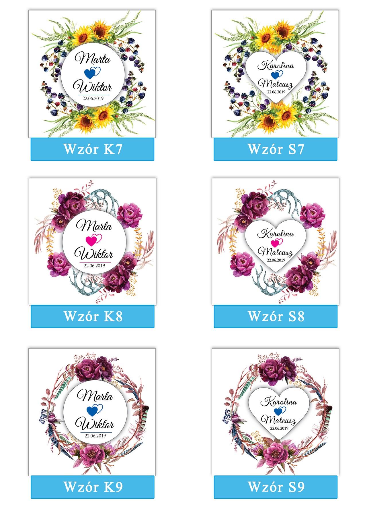 zaproszenia-ślubne-boho-rustykalne-wianki-kwiatowe-Silena-ze-wstążką-plansza-wzory7-9
