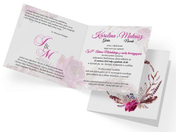 zaproszenia-ślubne-boho-rustykalne-wianki-kwiatowe-Silena-ze-wstążką-wiz2