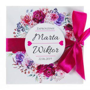 zaproszenia-ślubne-boho-rustykalne-wianki-kwiatowe-Silena-ze-wstążką-wstążka5