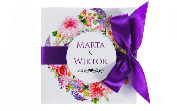 zaproszenia-ślubne-boho-rustykalne-wianki-kwiatowe-Silena-ze-wstążką-wstążka6