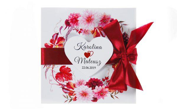 zaproszenia-ślubne-boho-rustykalne-wianki-kwiatowe-Silena-ze-wstążką-wstążka8