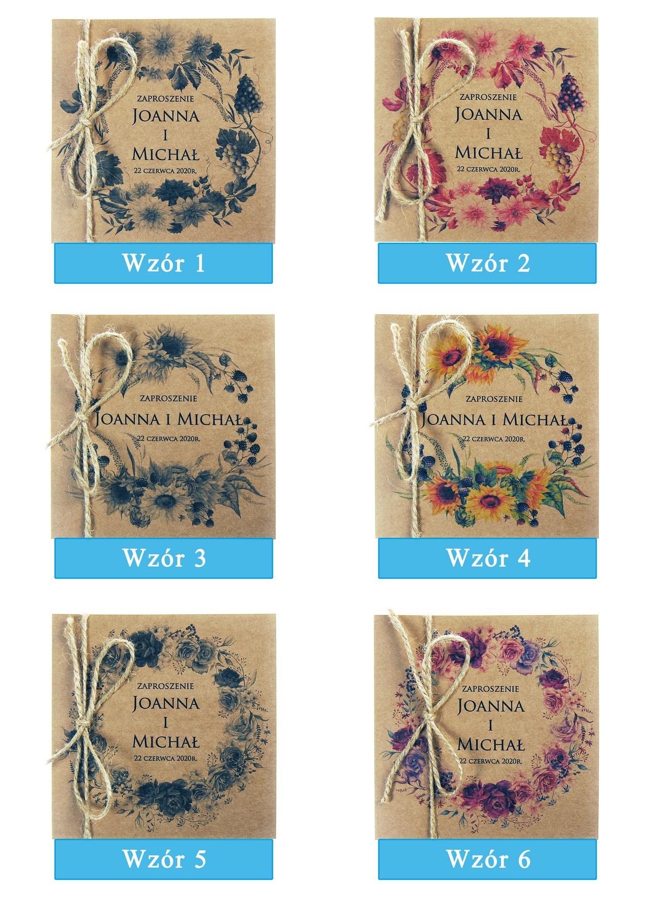zaproszenia-ślubne-boho-wianki-kwiatowe-EkoSilena-ekopapier-ekologiczne-plansza-wzory1-6