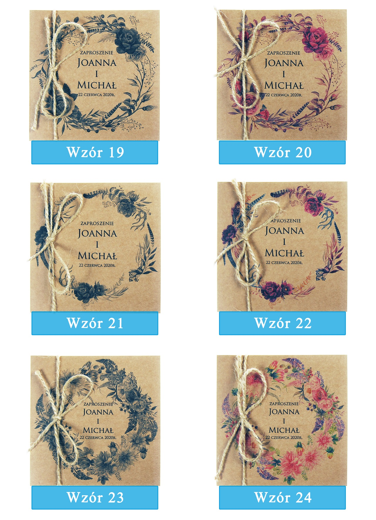 zaproszenia-ślubne-boho-wianki-kwiatowe-EkoSilena-ekopapier-ekologiczne-plansza-wzory19-24