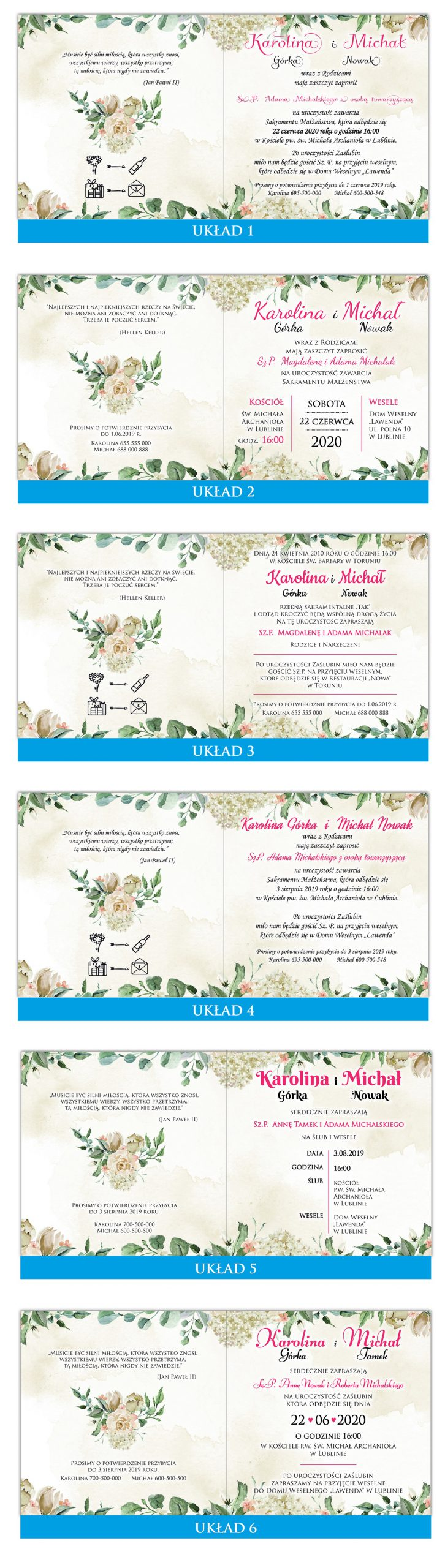 zaproszenia-ślubne-kwiatowe-ramki-boho-rustykalne-Tacjana-układy-tekstu