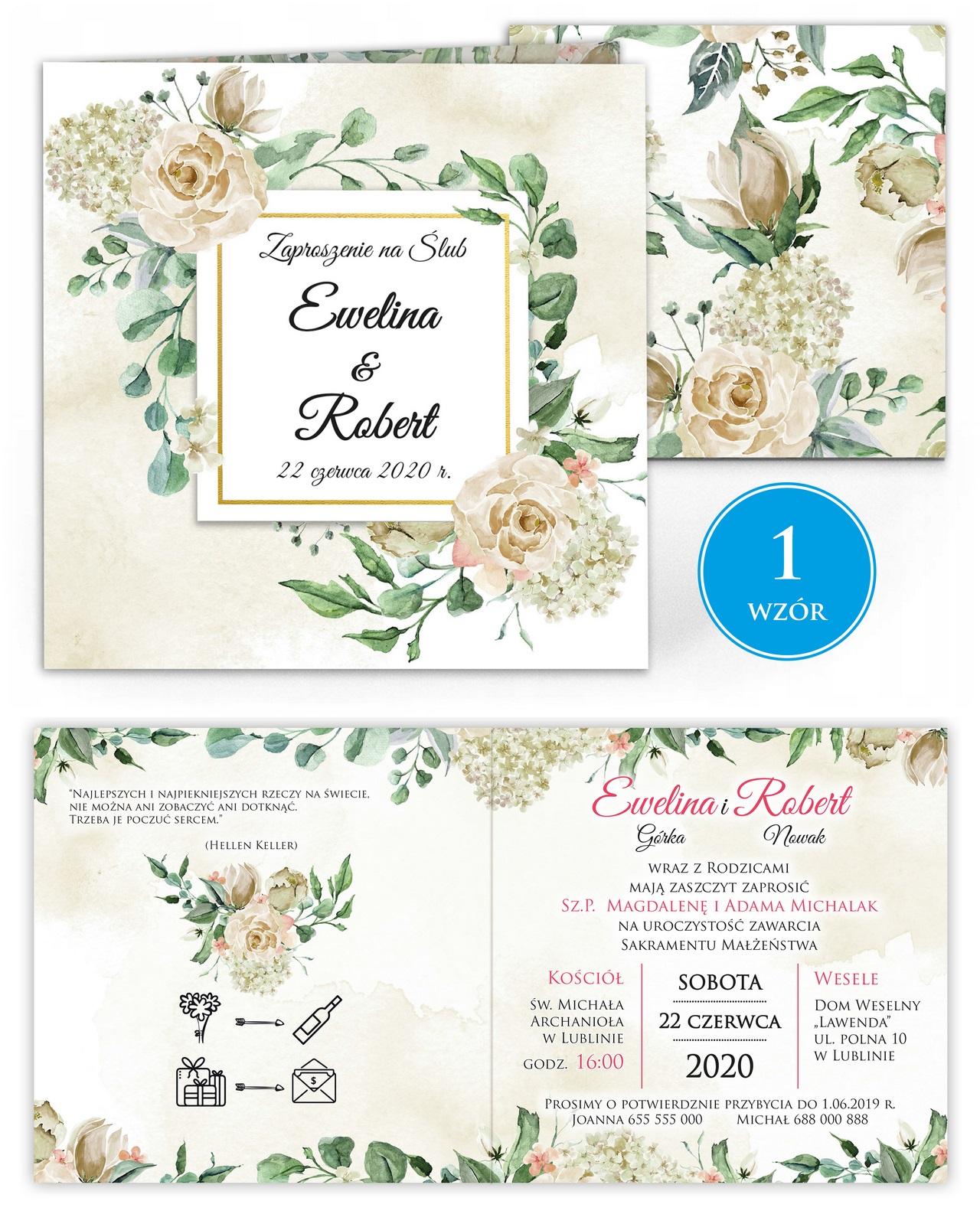 zaproszenia-ślubne-kwiatowe-ramki-boho-rustykalne-Tacjana-wiz1