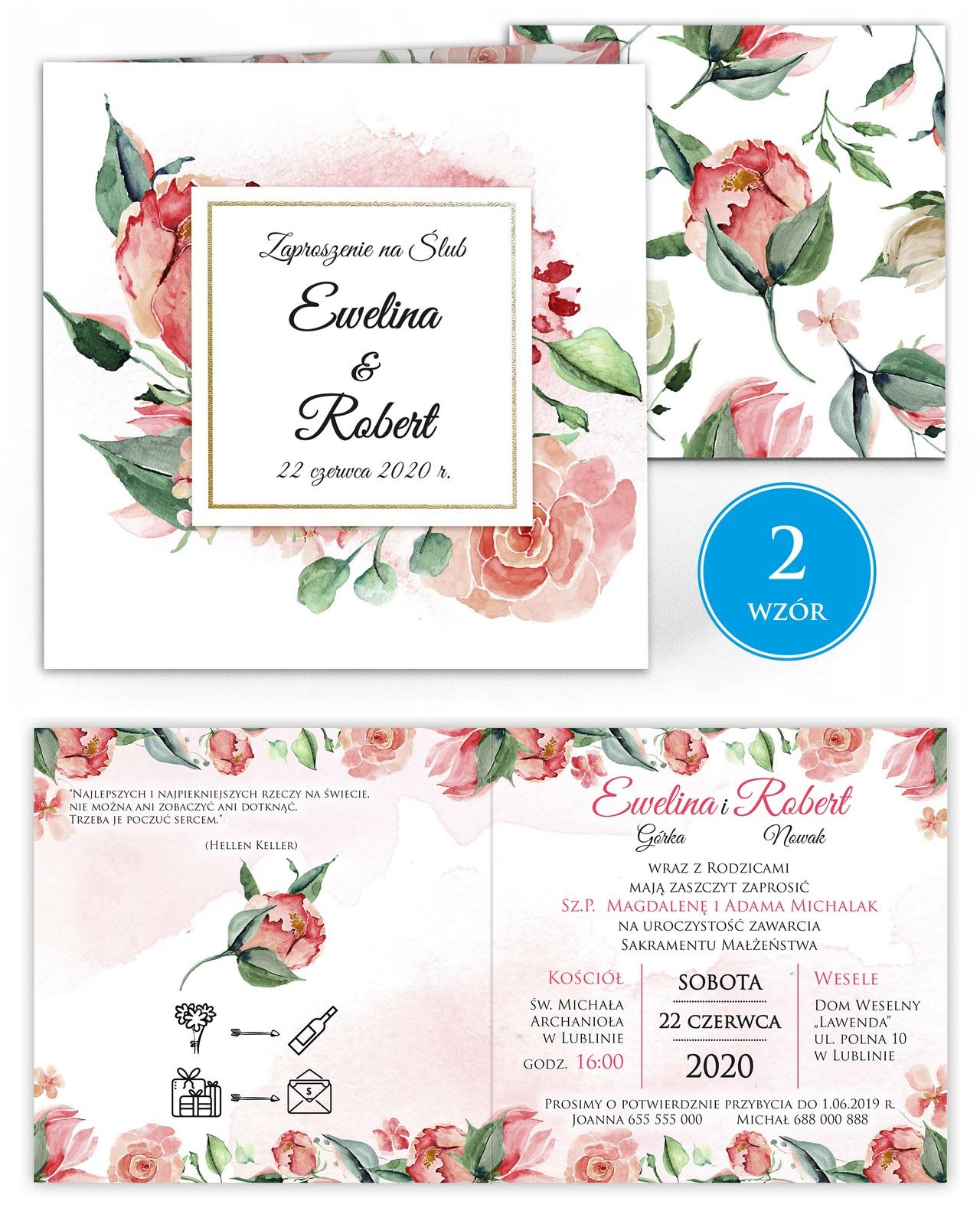 zaproszenia-ślubne-kwiatowe-ramki-boho-rustykalne-Tacjana-wiz2
