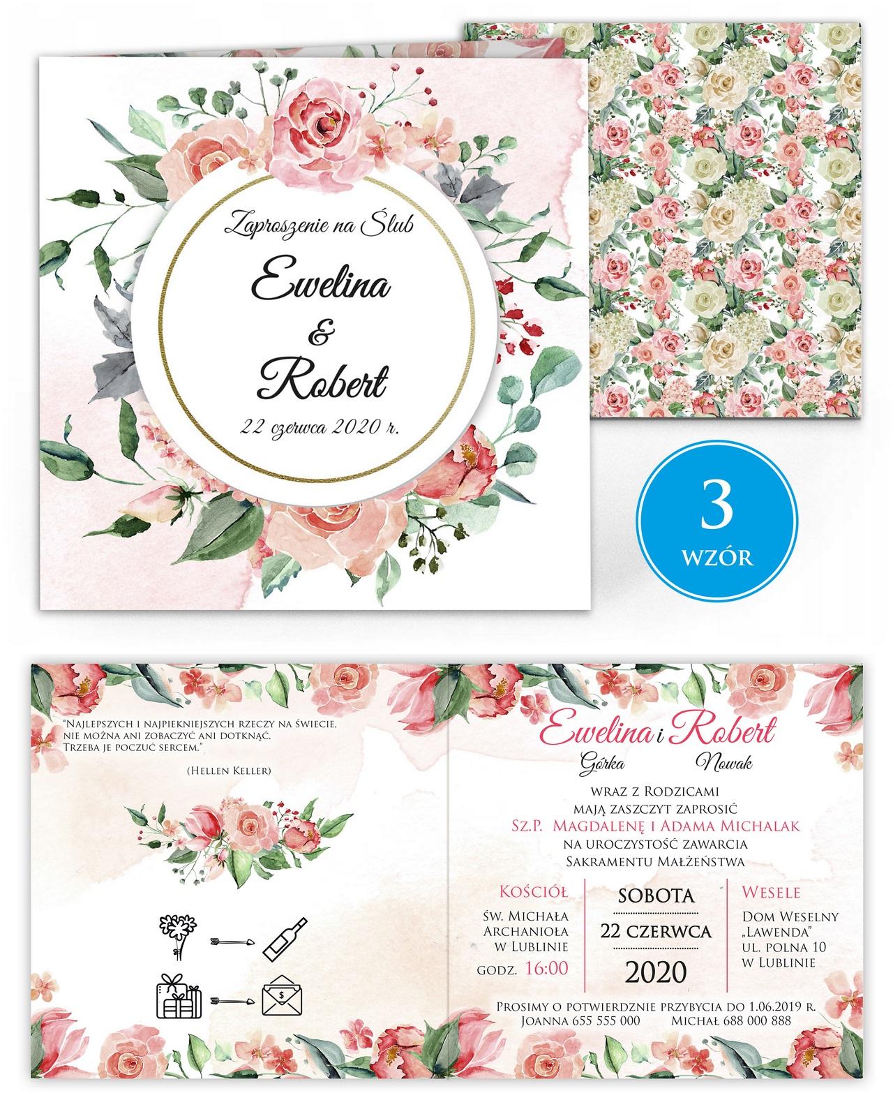 zaproszenia-ślubne-kwiatowe-ramki-boho-rustykalne-Tacjana-wiz3
