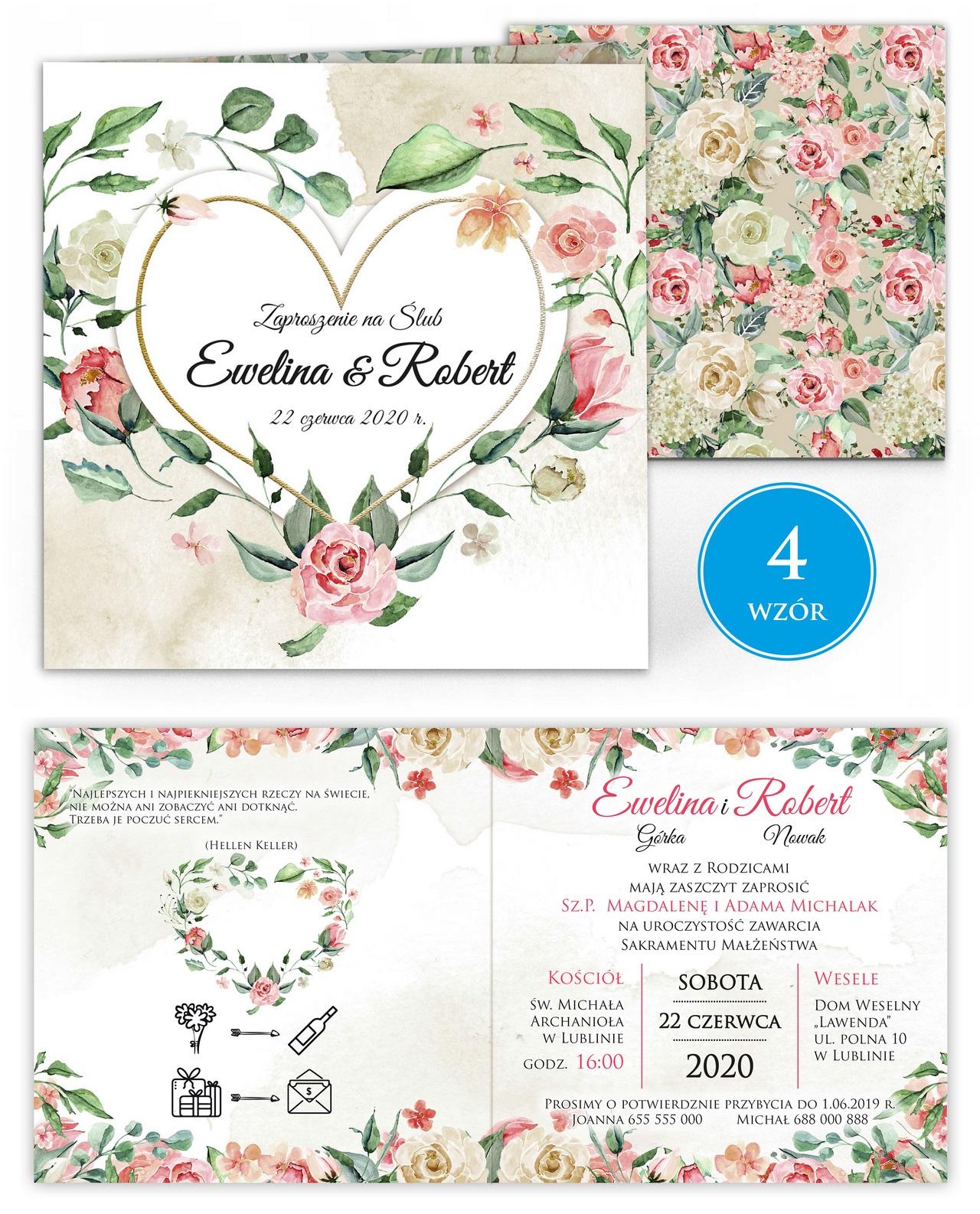 zaproszenia-ślubne-kwiatowe-ramki-boho-rustykalne-Tacjana-wiz4