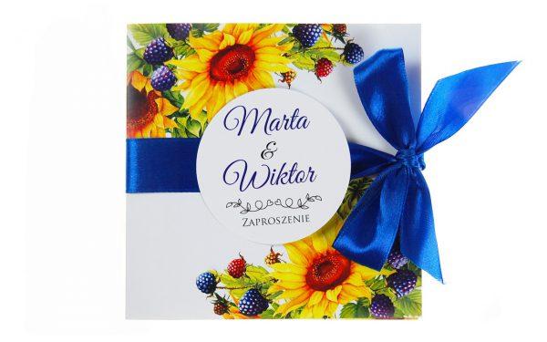 zaproszenia-ślubne-boho-rustykalne-kwiatowe-Nikola-ze-wstążką